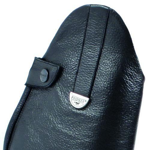 Servizio Spedizione Pelle : Stivali pioneer in pelle con cerniera posteriore e lacci
