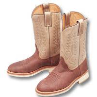 STIVALI WESTERN IN NABUK INGRASSATO marca SANCHO BOOTS