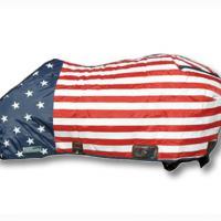 COPERTA PIUMONE DA BOX IMBOTTITURA 350 gr PER QUARTER HORSE CON COLORI U.S.A.