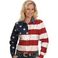 CAMICIA DONNA ROPER AMERICAN FLAG, from U.S.A.