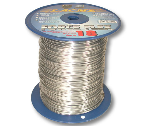 Filo elettrico in lega di alluminio forceflex lacme for Recinzione elettrica per cavalli