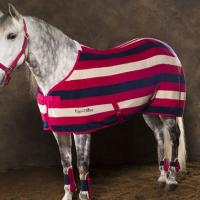 COPERTA IN PILE EQUI-THEME modello STRIPE MULTICOLOR