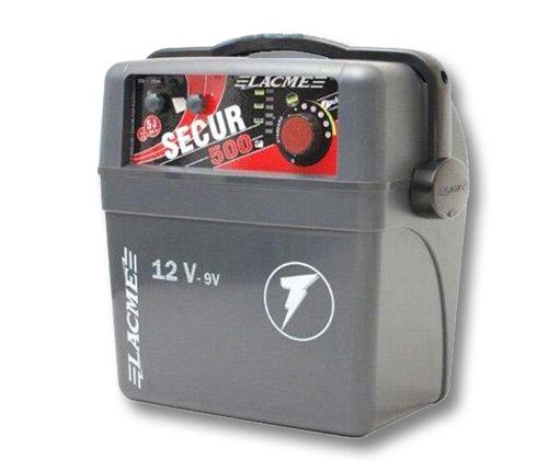 elettrificatore a batteria lacme secur 500 9v 12v joule 5