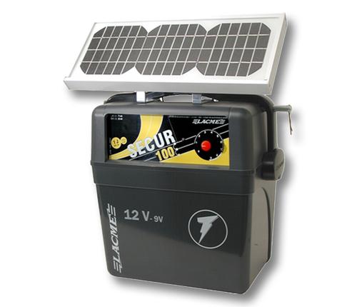 elettrificatore lacme secur 100 solis con pannello solare
