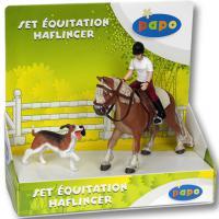 GIOCATTOLO marca PAPO, SET PONY HAFLINGER