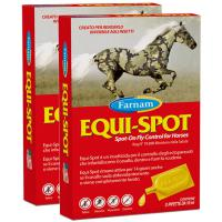 SET 2 PEZZI art. 0862 EQUI-SPOT FARNAM REPELLENTE INSETTI PER CAVALLO 6x10ml