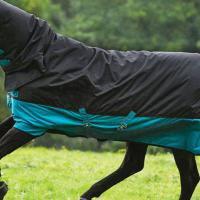 COPERTA PADDOCK HORSEWARE MIO TURNOUT 200 gr ALL IN ONE, COPRICOLLO INTEGRATO