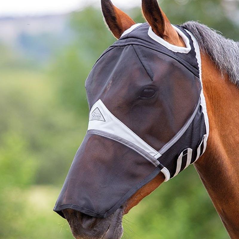Shires Small Pony Maschera a maglia fine con fori per le orecchie Lexi Myrtle
