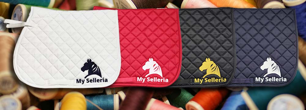 Sottosella con Ricamo My Selleria: il Brand Made in Italy!