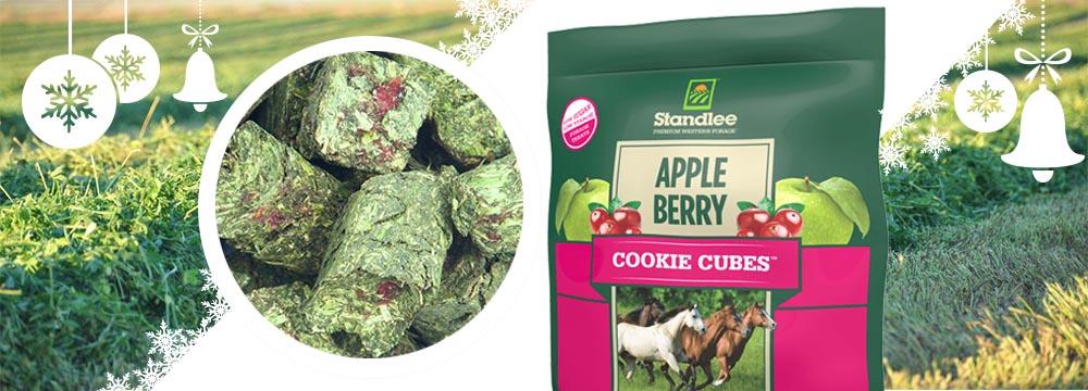 Cubetti Nutrizionali per Cavalli Standlee Apple/Berry Cookie Cubes